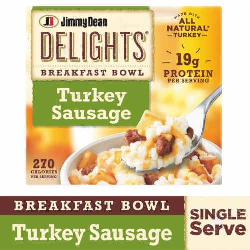 Jimmy Dean Delights Turkey Sausage Breakfast Bowl Perspective: front