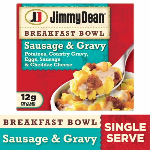 Jimmy Dean Sausage & Gravy Breakfast Bowl Perspective: front