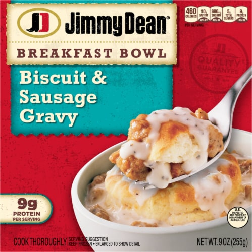 Jimmy Dean Biscuit & Sausage Gravy Breakfast Bowl Perspective: front