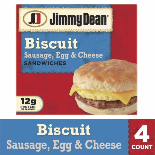 Jimmy Dean Sausage Egg & Cheese Biscuit Sandwiches Perspective: front