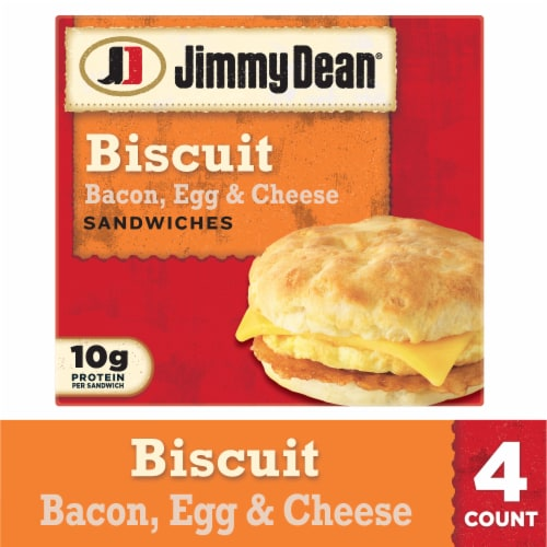 Jimmy Dean Bacon Egg & Cheese Biscuit Sandwiches Perspective: front