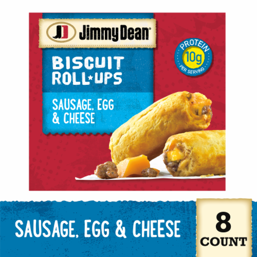 Jimmy Dean Sausage Egg & Cheese Biscuit Roll-Ups Perspective: front