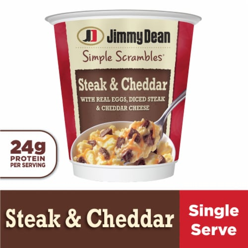 Jimmy Dean Simple Scrambles Steak & Cheddar Breakfast Cup Perspective: front