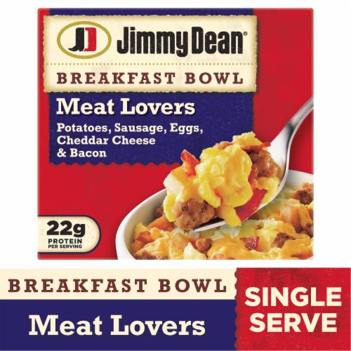 Jimmy Dean Meat Lovers Breakfast Bowl Frozen Meal Perspective: front