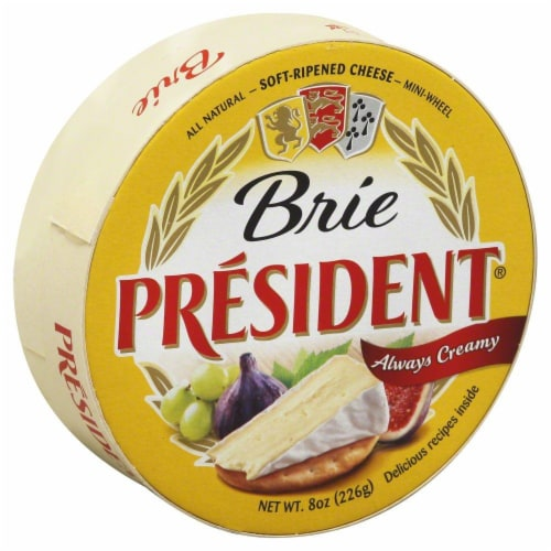 President Brie Cheese Wheel Perspective: front