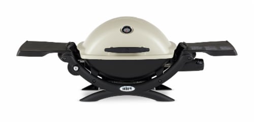 Weber® Q® 1200 Portable Gas Grill - Titanium Perspective: front