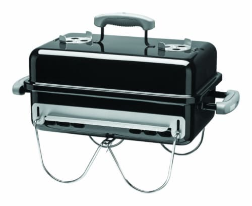 Weber Go Anywhere Charcoal Grill Black - Case Of: 1; Perspective: front