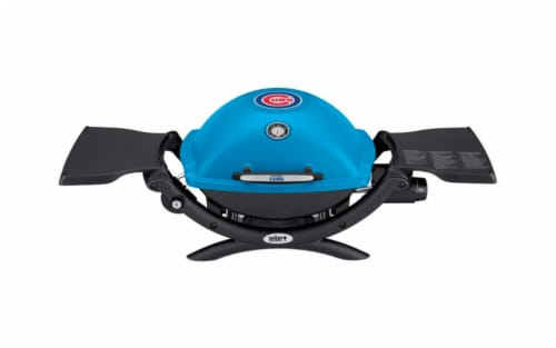Weber  Chicago Cubs Q1200  Liquid Propane  Portable  Grill  Blue  1 - Case Of: 1; Perspective: front
