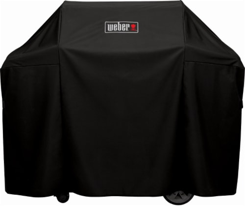 Weber Premium Grill Cover for Genesis II LX 300 Series and Genesis 300 Series Grills - Black Perspective: front