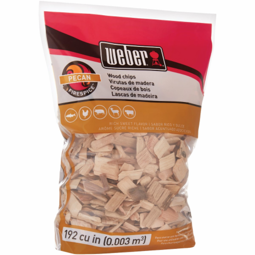Weber Firespice Pecan Wood Smoking Chips 192 cu. in. - Case Of: 1; Perspective: front