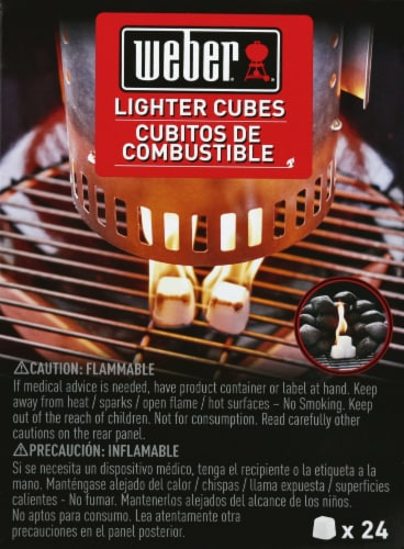 Weber Lighter Cubes - White Perspective: front
