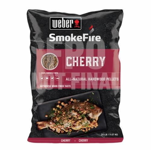 Weber SmokeFire 20 Lb. Cherry Wood Pellet 190005 Perspective: front