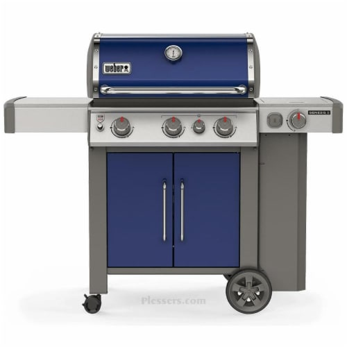 Weber-Stephen Products 266104 Liquid Propane Gas Grill, Blue Perspective: front