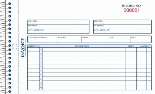 Rediform Carbonless Invoice Book - 50 Sheets Perspective: front