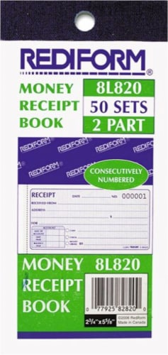 Rediform Money Receipt Book Perspective: front