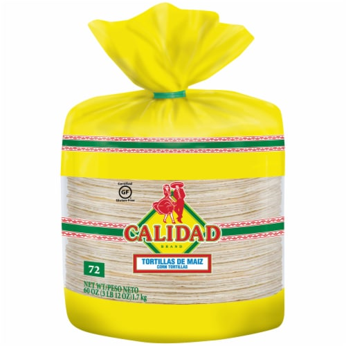 Calidad White Corn Tortillas Perspective: front