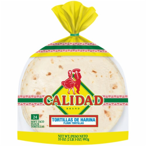 Calidad Soft Taco Flour Tortillas Perspective: front