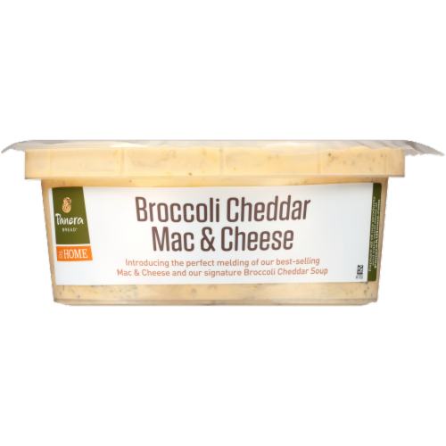 Panera Bread at Home Broccoli Cheddar Mac & Cheese Soup Perspective: front