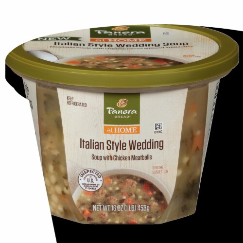 Panera Bread® Italian Style Wedding Soup with Chicken Meatballs Perspective: front