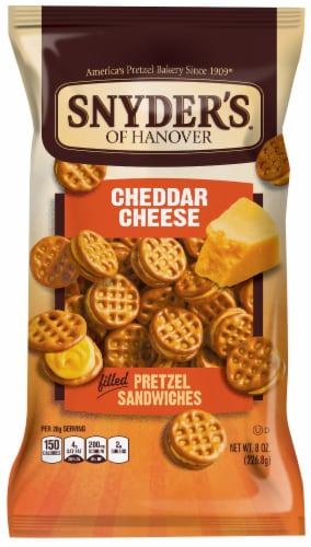 Snyder's of Hanover Cheddar Cheese Pretzel Sandwiches Perspective: front