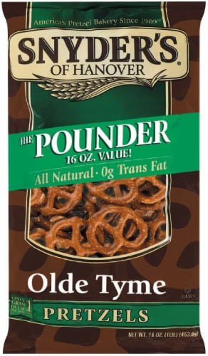 Snyder's of Hanover Olde Tyme Pretzels Family Size Perspective: front