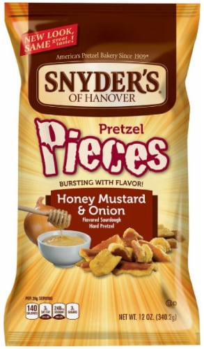 Snyder's of Hanover Honey Mustard & Onion Pretzel Pieces Perspective: front