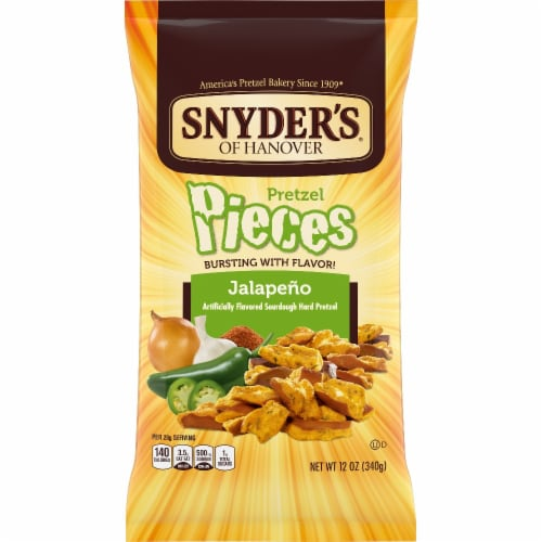 Snyder's of Hanover Jalapeno Flavored Pretzel Pieces Perspective: front