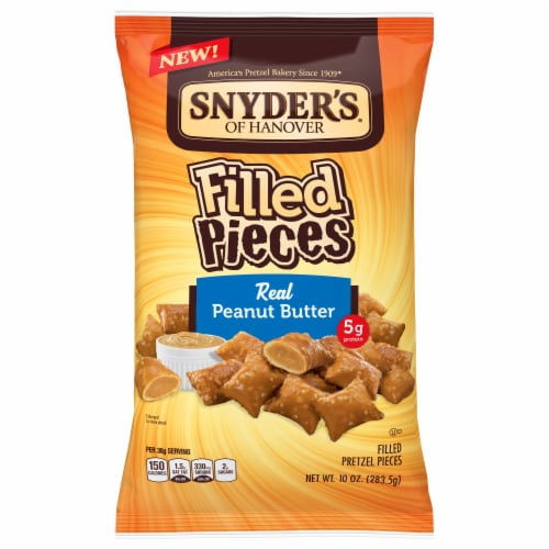 Snyder's of Hanover Peanut Butter Filled Pretzel Pieces Perspective: front