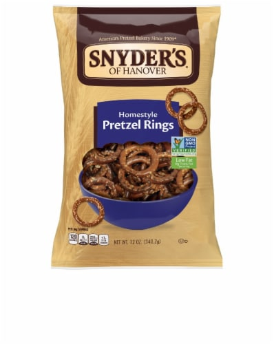 Snyder's of Hanover Homestyle Pretzel Rings Perspective: front