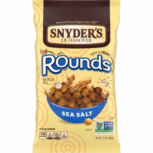 Snyder's Sea Salt Pretzel Rounds Perspective: front