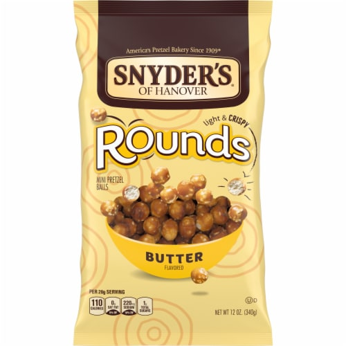 Snyder's of Hanover Butter Pretzel Rounds Perspective: front