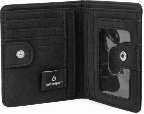 Mundi Women's Mini Bifold Wallet - Black Perspective: front
