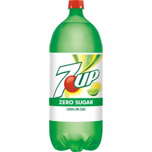 7UP Zero Sugar Lemon-Lime Soda Perspective: front