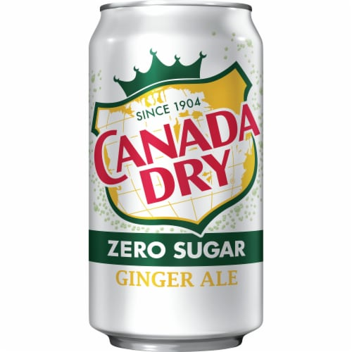 Canada Dry Zero Sugar Ginger Ale Soda Perspective: front