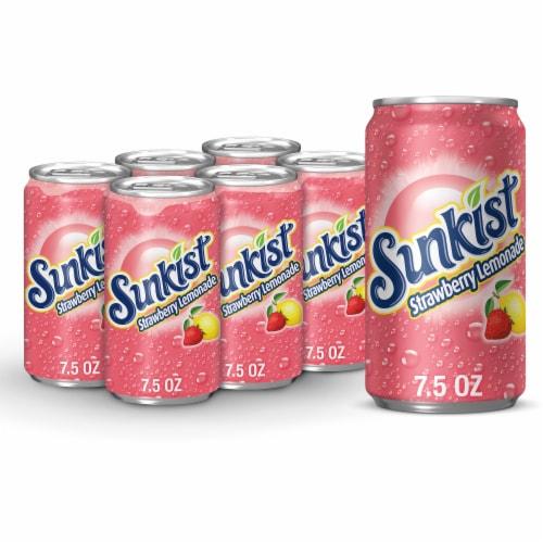 Sunkist Strawberry Lemonade Soda Perspective: front