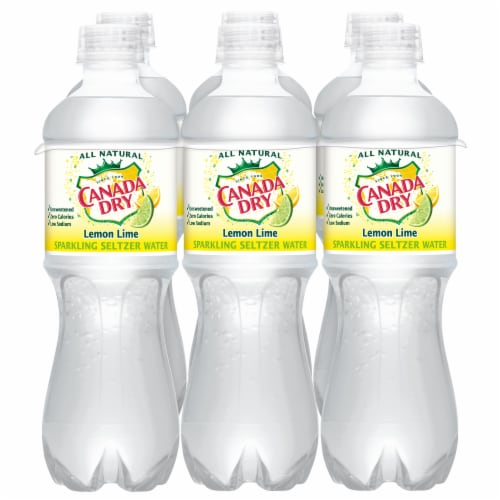 Canada Dry Sparkling Lemon Lime Seltzer Water Perspective: front
