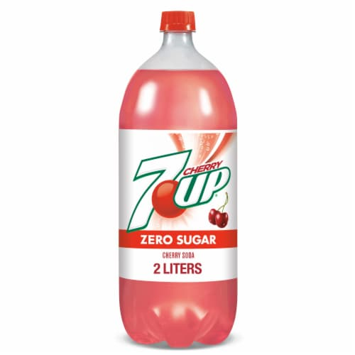 Diet 7UP Cherry Soda Perspective: front