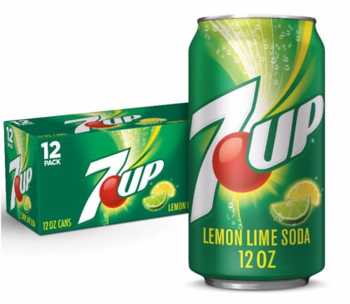 7UP Lemon Lime Soda 12 Cans Perspective: front