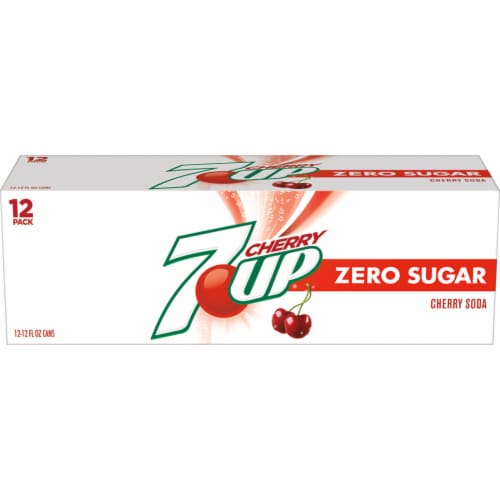 7UP Zero Sugar Cherry Soda Perspective: front