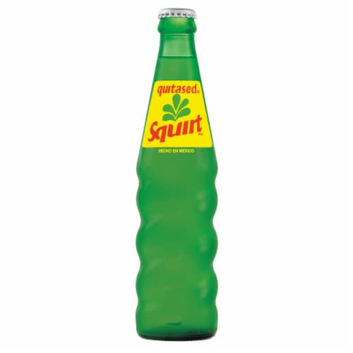 Squirt Soda Bottle Perspective: front