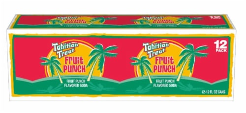 Tahitian Treat Fruit Punch Soda 12 Cans Perspective: front