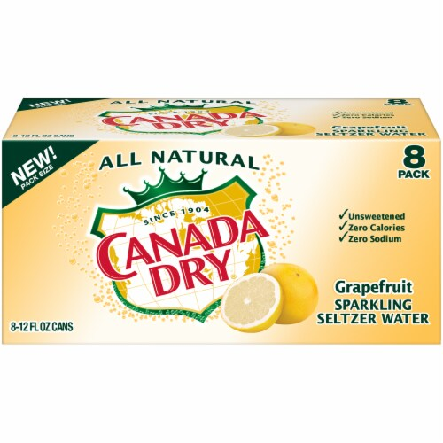 Canada Dry Grapefruit Sparkling Seltzer Water Perspective: front