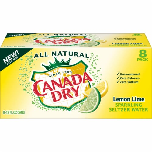 Canada Dry Lemon Lime Sparkling Seltzer Water Perspective: front