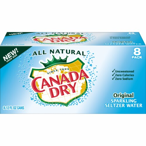 Canada Dry Original Sparkling Seltzer Water Perspective: front