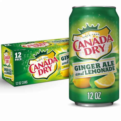 Canada Dry Ginger Ale and Lemonade Beverage Perspective: front