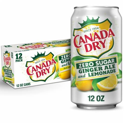 Canada Dry Zero Sugar Ginger Ale and Lemonade Soda Perspective: front