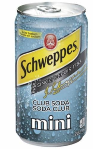 Schweppes Club Soda Perspective: front