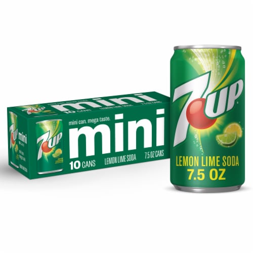7UP Mini Lemon Lime Flavored Soda Perspective: front