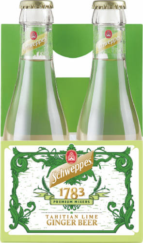 Schweppes Ginger Beer Tahitian Lime Perspective: front