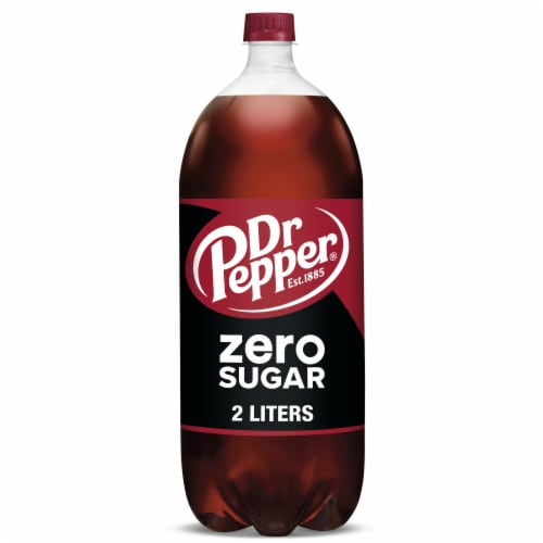 Dr Pepper Zero Sugar Soda Perspective: front